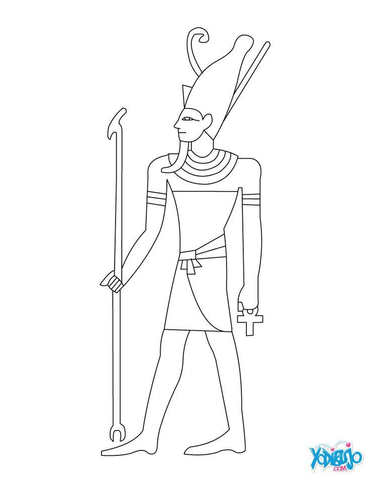 47 best representaciones egipcias images on pinterest for Pharaoh coloring pages