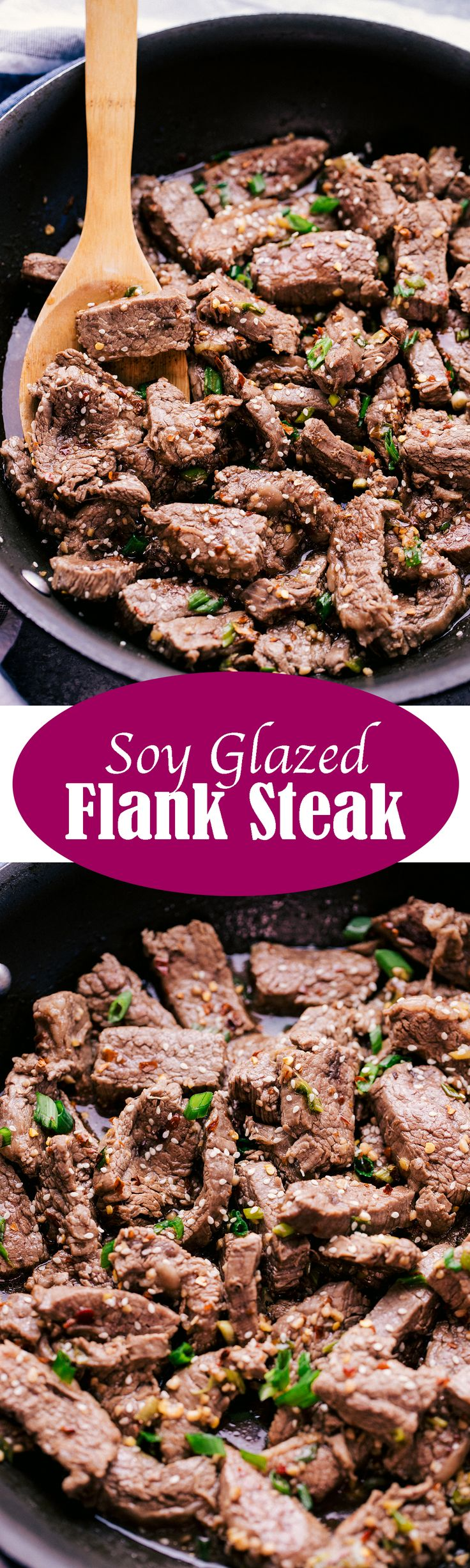 SOY GLAZED FLANK STEAK