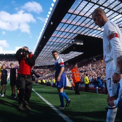 David's goliath march to World Cup 2002, England v Greece at Manchester United,2001 by Stuart Roy Clarke.