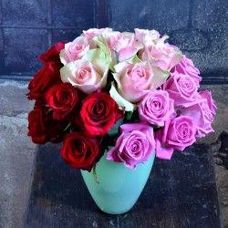 Kytica ruží troch farieb