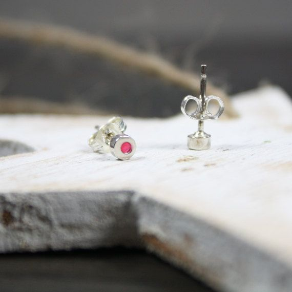 Sterling Silver Candy Pink 'Dot' Studs by AlexStoneJewellery, $20.00