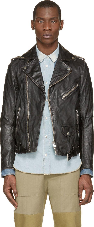 Diesel  Black Leather L-Umenirok Jacket