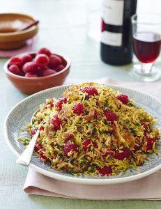 Perzische rijst met Sweet Eve frambozen