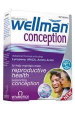 Vitabiotics Wellman Conception Καλή Ανδρική Αναπαραγωγική Υγεία Και Λειτουργία 30Tabs. Μάθετε περισσότερα ΕΔΩ: https://www.pharm24.gr/index.php?main_page=product_info&products_id=4200