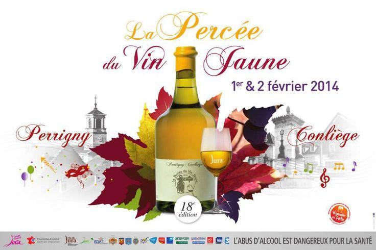 La Percée du vin jaune. Du 1er au 2 février 2014 à Conliège.