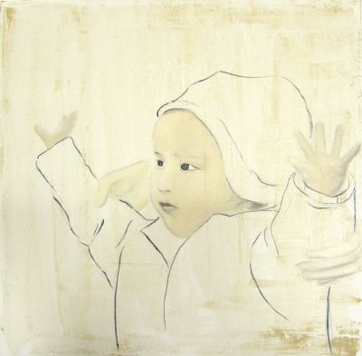 Wiebke Müller, Children after Fukushima - oil on canvas