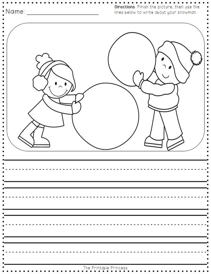 FREEBIE - reading, writing, and math printables for winter. Perfect for after winter break!