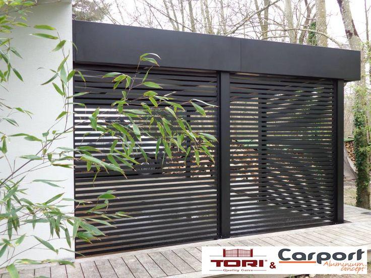 Carport Aluminium sur mesure Garantie laquage : 5 ans choix des couleurs et du claustrât .