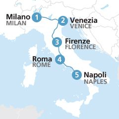 Travel our Italy itinerary train route with a Eurail Italy pass