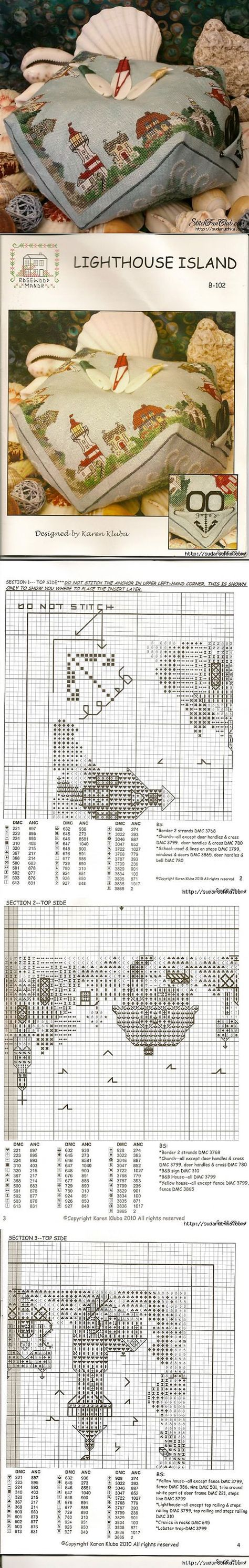"""Biskornyu """"Lighthouse"""" - the scheme for cross stitch .."""