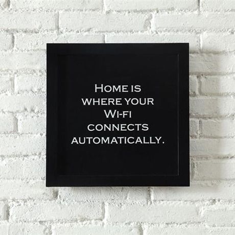 At Home Framed Quote