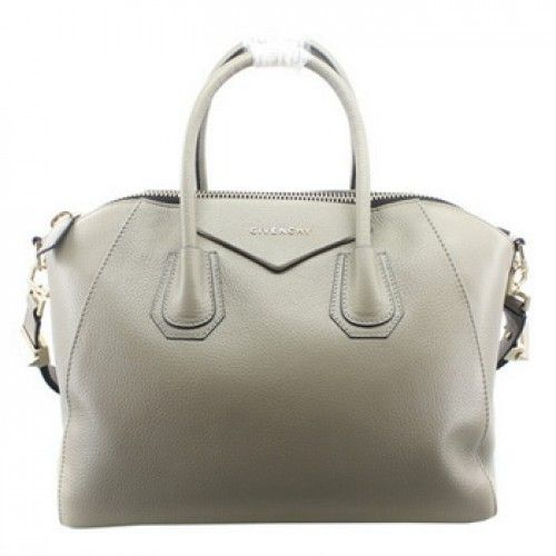 c80e7c2d6044 Givenchy Large Antigona Bags on Sale - Classic Replica Givenchy Large  Antigona Bag Clemence Leather 9981 Grey