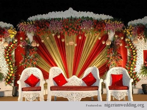 Outside Wedding Ceremony Decorations Nigerian Wedding T