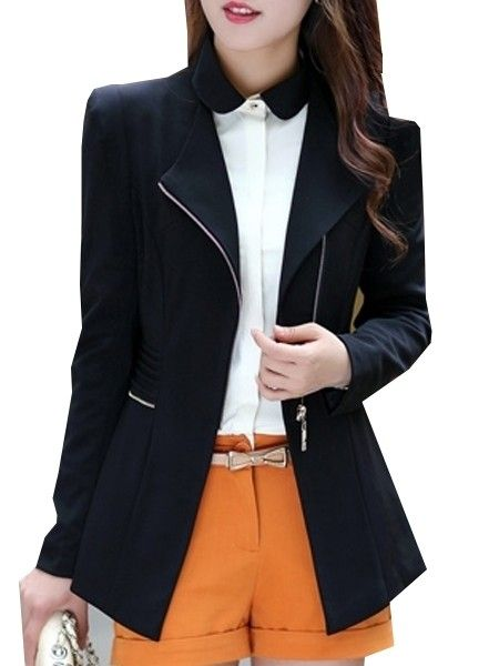 Buy Elegant V Neck Breasted Plain Blazers online with cheap prices and discover fashion Blazers at Fashionmia.com.