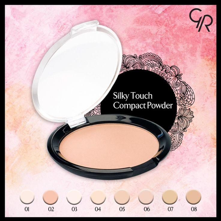 Tüm cilt renklerine uygun 8 renk tonu ile gün boyu canlı ve kusursuz bir görünüm sağlayan Silky Touch Compact Powder Golden Rose Store'da! http://www.goldenrosestore.com.tr/silky-touch-compact%20-powder.html