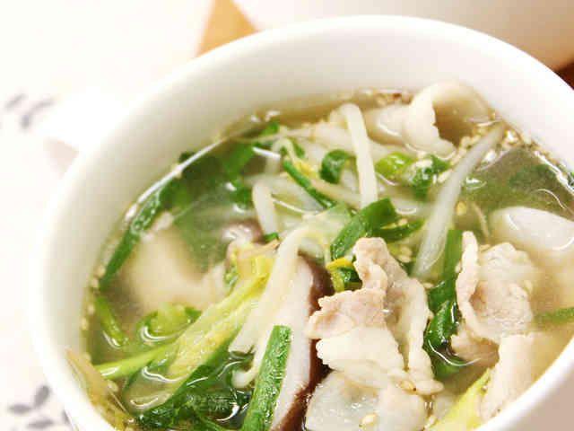 ダイエットや夜食に中華風食べるスープの画像