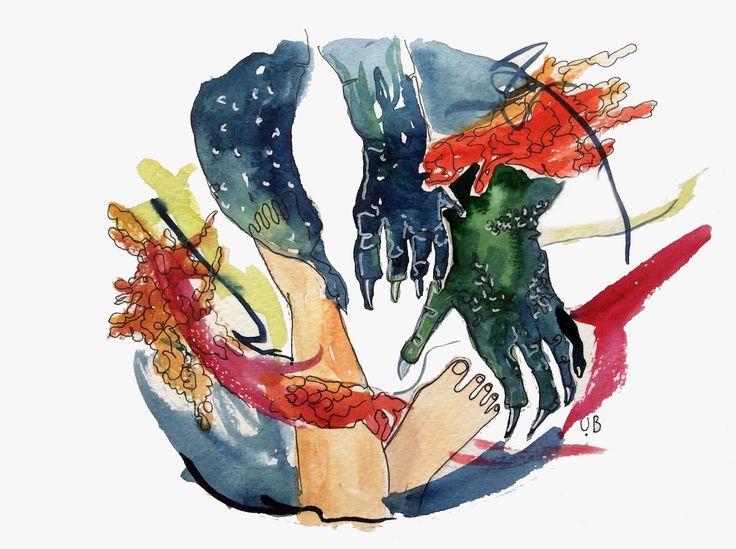 dancewiththedragon illustration by ugnebalc