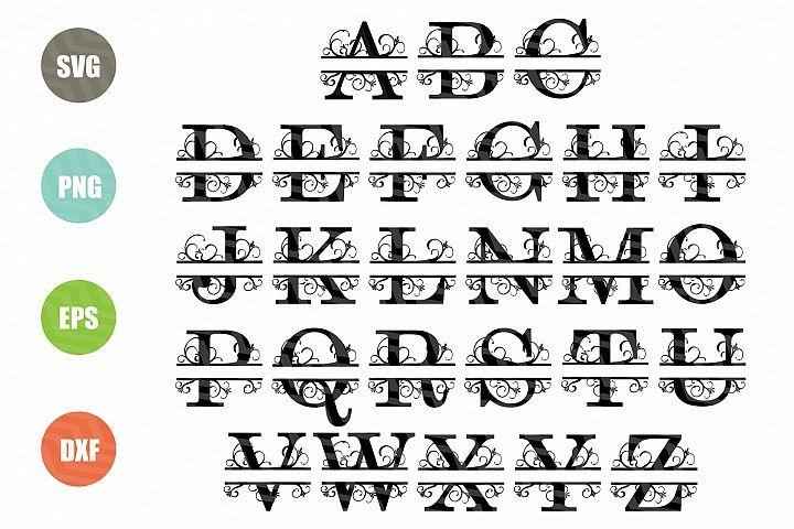 Split Letters A Z Svg Alphabet Letters A Z 49588 Svgs Design Bundles Lettering Alphabet Lettering Free Svg Files Monogram