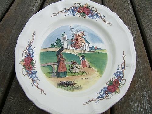 17 best images about henri loux on pinterest porcelain - Decoration assiette dessert ...