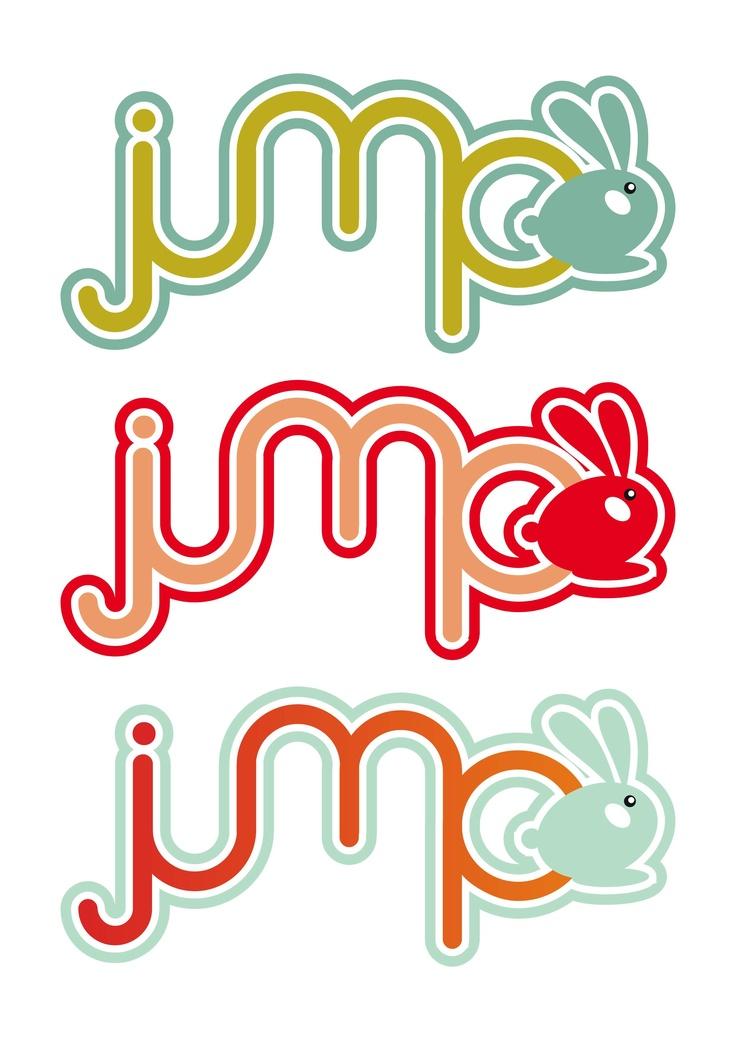 Jump bunny child toy logo