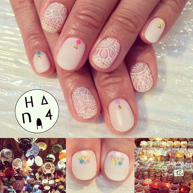 turkish lantern inspired nails by hana4 nail art