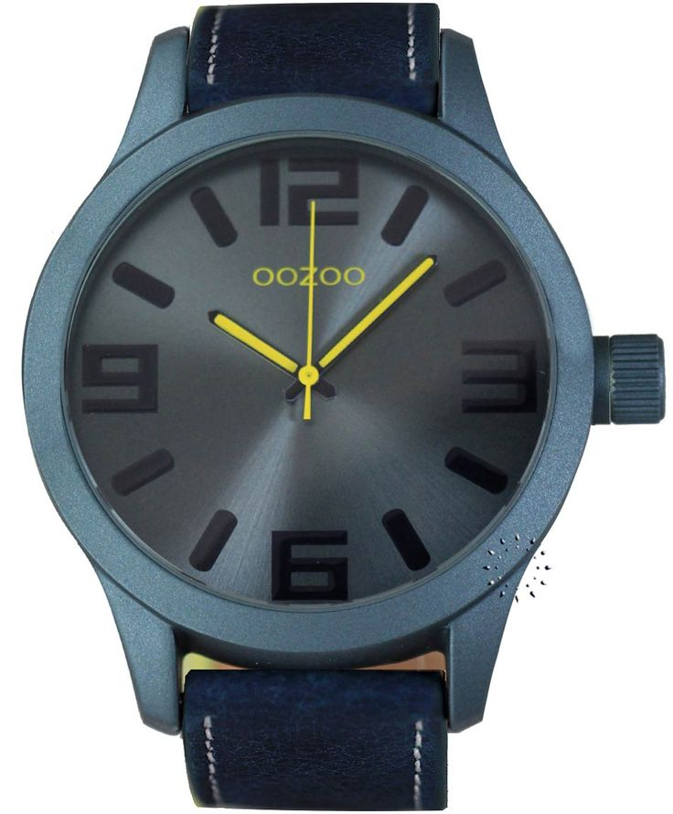 OOZOO XXL Τimepieces Blue Leather Strap Η τιμή μας: 69€ http://www.oroloi.gr/product_info.php?products_id=34664