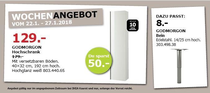#IKEA GODMORGON Hochschrank für 129,00€ (statt 179,00€) https://www.billigerfinder.de/kueche-und-haushalt/1516868756284-ikea-godmorgon-hochschrank