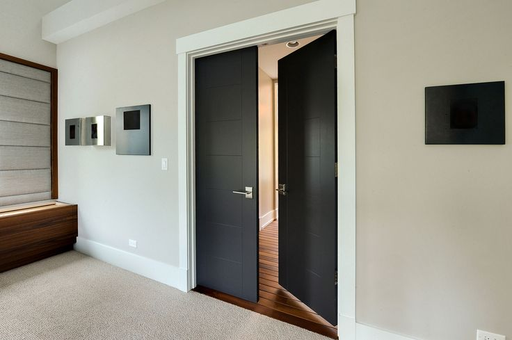 Custom Wood Interior Doors   Custom Modern Interior Wood Double Door    Glenview Haus   Custom
