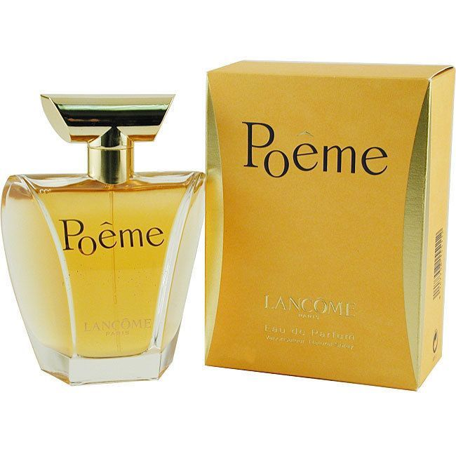 Launched by the design house of Lancome in 1995, 'Poeme' offers a feminine blend of florals including mimosa, white flowers, rose, and the scent of vanilla. This fragrance is available in a 3.4-ounce