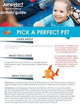 Pick a Perfect Pet Activity | Not Norman | 2015 Read for the Record Printable https://www.teachervision.com/pets/printable/76473.html #ReadForTheRecord