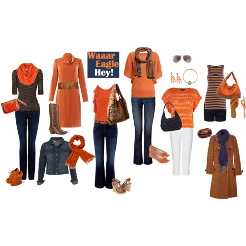 Game Day outfit Possibilities.  War Eagle!