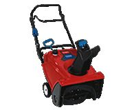 Single stage snow blowers are gas powered and capable of handling more snow than electric models and are good for light to moderate snowfalls up to 6-8 inches.