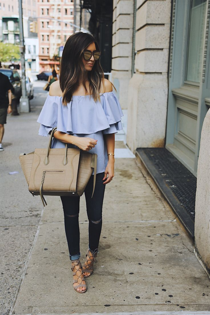 off the shoulder via @somewherelately