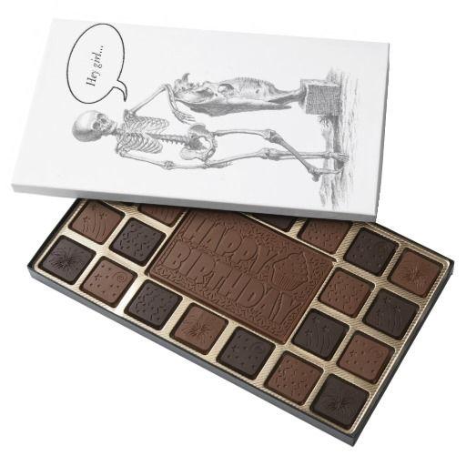 Hey Girl vintage skeleton 45 Piece Box Of Chocolates
