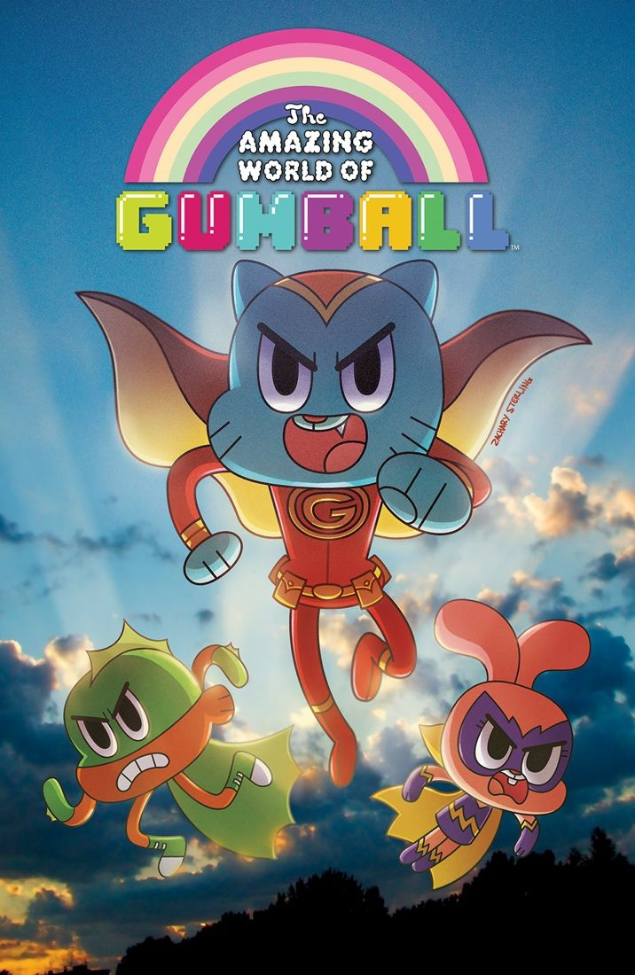 THE AMAZING WORLD OF GUMBALL #2  Retail Price: $3.99 Author: Frank Gibson Artist: Tyson Hesse Cover Artists: A. Missy Pena B. Zachary Sterling C. Irene Flores (Incentive)  Gumball and Darwin might have done of lot of things that could be considered immature and dangerous in the long years that they've been alive, but none of that even comes close to what they're about to do in this issue. May Anais have mercy on their souls…