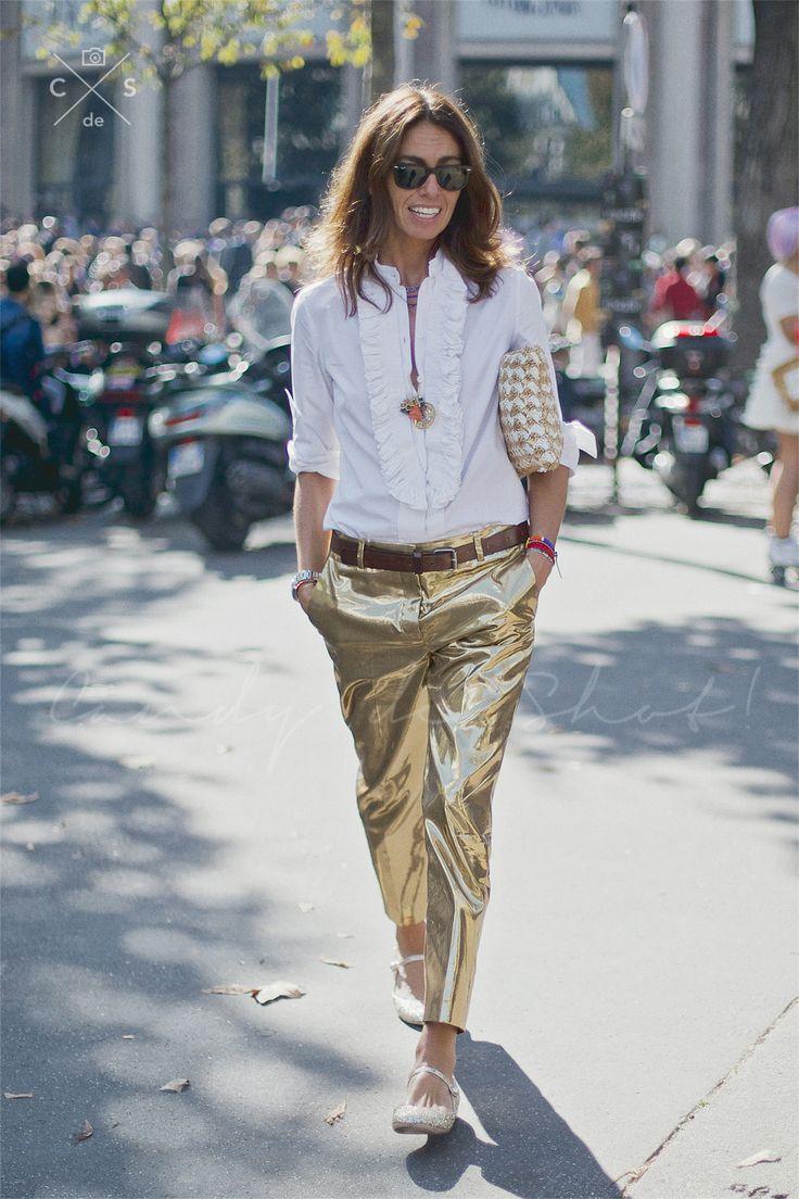 Paris Fashion Week 2015 S/S Street style :Day 8 #VivianaVolpicella in paris
