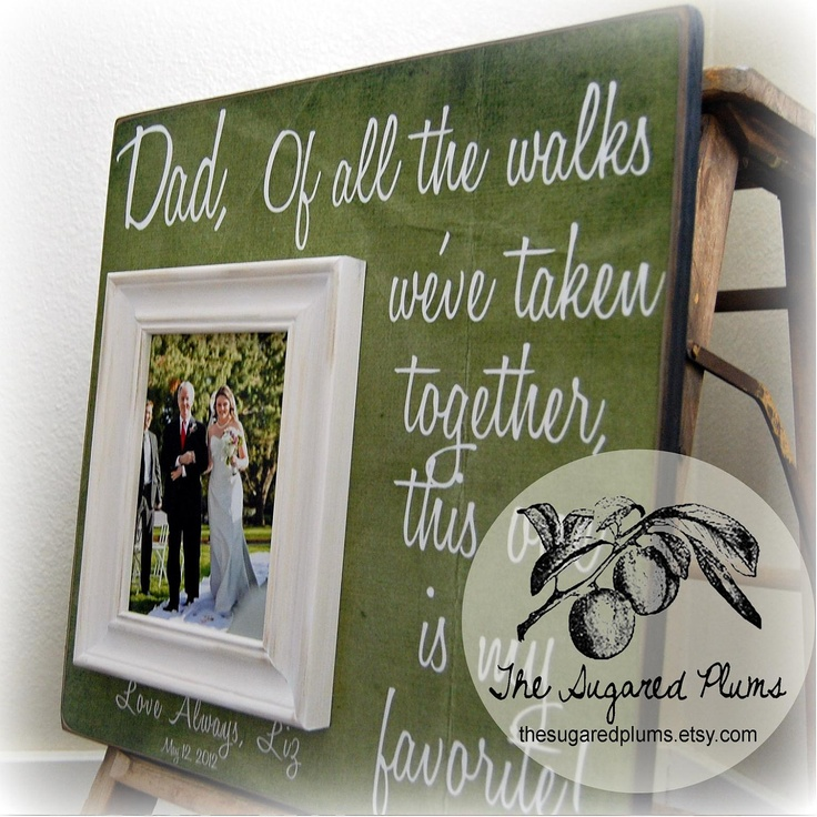 Wedding Gift Father Of Bride : Father of the Bride Wedding Gift Personalized Picture Frame 16x16 Of ...