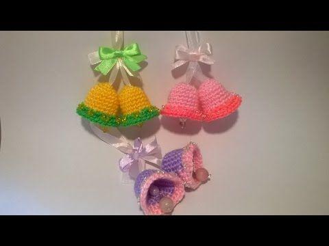 Campanelle Uncinetto Tutorial - Crochet Bell Pattern #campanella #uncinetto #tutorial #bell #crochet #Easy #campana #croche #idee #Pasqua #creazioni #sino #amigurumi #pattern #patron