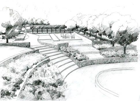Best Garden Design Drawings Images On Pinterest Landscape