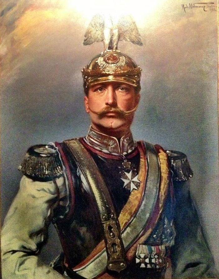 Kaiser Wilhelm II of Germany. He was the grandson of Queen Victoria but had a love-hate relationship with Britain. He was forced to abdicate at the end of the war.