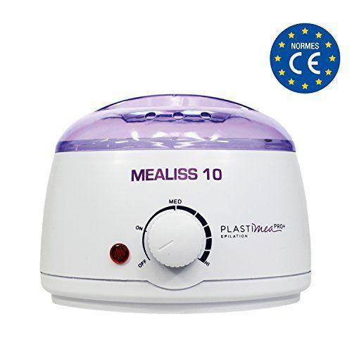 Appareil chauffe cire Mealiss 10 ultra simple pour 1 épilation à la cire chaude comme les pros – Résultat garanti pour une peau douce et…