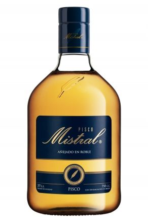 Aguardiente de vino Pedro Ximenez & Moscatel de Alejandría, Pisco chileno *Pisco Mistral, añejado en roble* - Compañía Mistral, Valle del Elqui, Chile --------------------- Añejado en barricas de roble americano --------------- Alcohol: 46 º