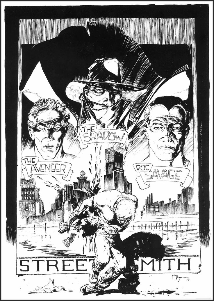Michael Kaluta - 1976 Shadow / Doc Savage / Avenger poster