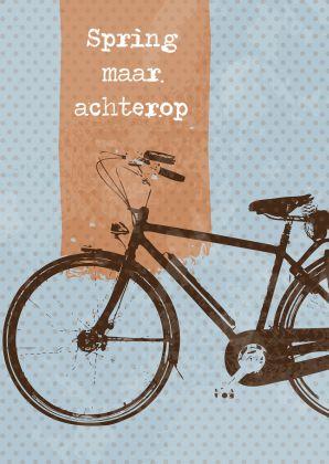 Zomaar - Spring maar achterop retro fiets