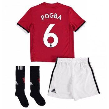 Manchester United Paul Pogba 6 kläder Barn 17-18 Hemmatröja Kortärmad  #Billiga #fotbollströjor
