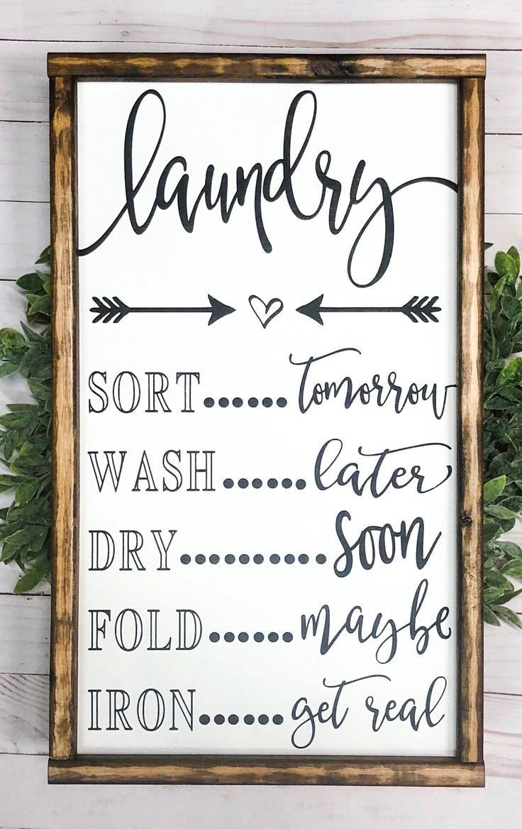 Signs With Quotes | Farmhouse Decor | Laundry Room…