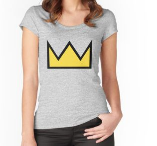 Bughead shipper crown Fitted Scoop T-Shirt