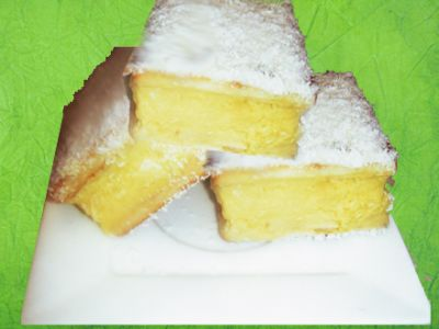 Divine Vanilla Slice - made with lattice biscuits &  vanilla pudding mix.