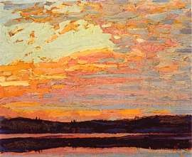Tom Thomson Sunset Sky