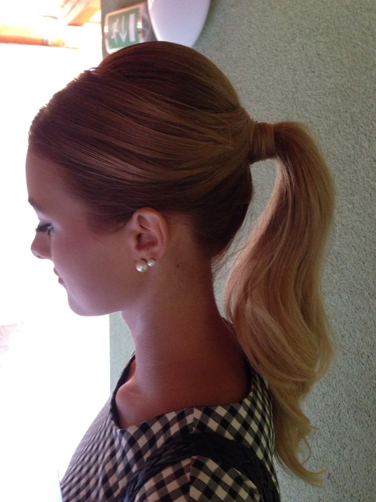 Glamour ponytail Super easy and elegant hairstyle #updo #hair #glamour